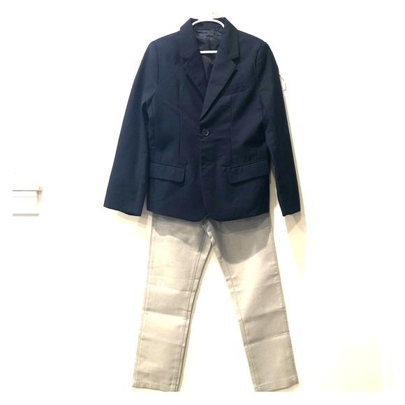 Children's Place Navy Jacket & Grey Pants